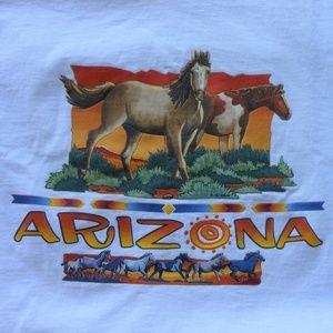 ARIZONA Wild Horses Classic Crew Neck T-Shirt VTG